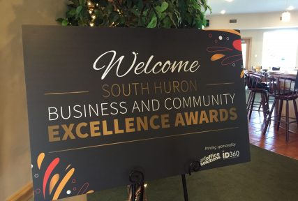 The South Huron Business and Community Awards Gala happens annually in October.