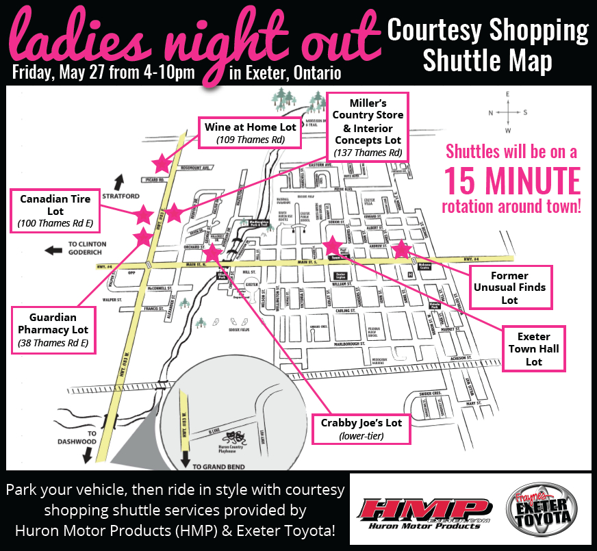 Ladies Night 2016_Shuttle Map