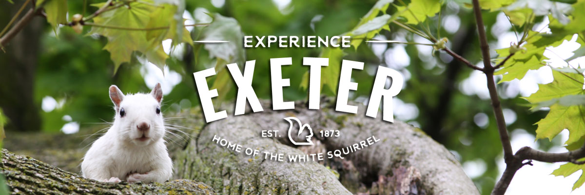 Experience Exeter Ontario, home of the white squirrel, shopping, trails & restaurants.