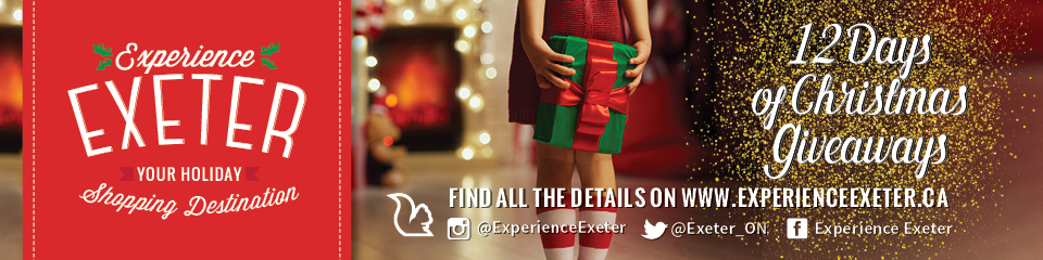 Experience Exeter - Your Holiday Shopping Destination! Exeter has everything you need and want this Christmas, be sure to celebrate the season with us.