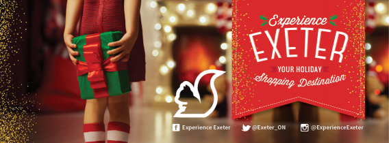 Experience Exeter - Your Holiday Shopping Destination! Come celebrate the holiday season in Exeter - many of the stores are open extended hours throughout the month of December for your holiday shopping connivence.